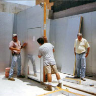 Walk-In Contruction: Door Being Placed