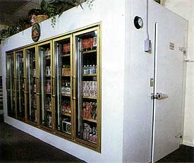 Full Walk-In Display with door on side.